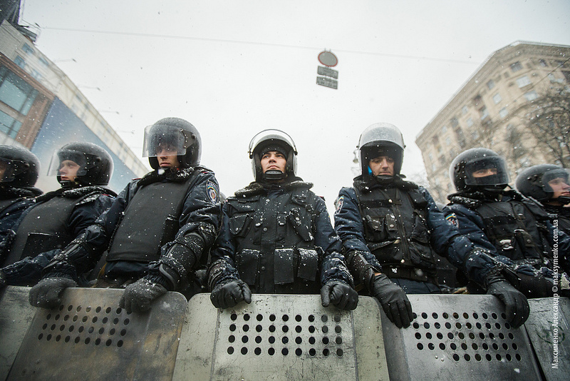 Berkut riot police during 2013/2014 Ukraine protests